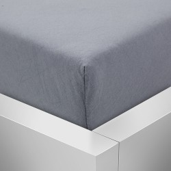Prémiové jersey prestieradlo - tmavo šedé - BedStyle
