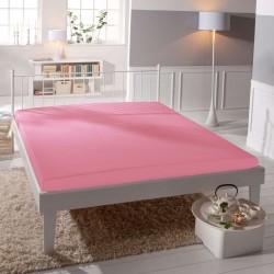 Jersey prestieradlo - lycra DeLuxe - ružové - BedStyle