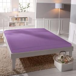 Jersey prestieradlo - lycra DeLuxe - stredne fialové - BedStyle