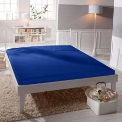 Jersey prestieradlo - lycra DeLuxe - tmavo modré - BedStyle