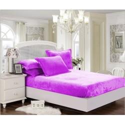 Mikroflanelové prestieradlo Elegance - fialové - BedStyle