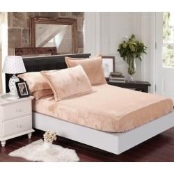 Mikroflanelové prestieradlo Elegance - béžové - BedStyle