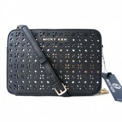 Micky Ken Luxusná kabelka MK13881 - čierna