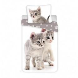 JERRY FABRICS Obliečky Kitten grey Bavlna, 140/200, 70/90 cm