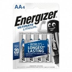 Tužkové batérie Ultimate Lithium - 4x AA - Energizer