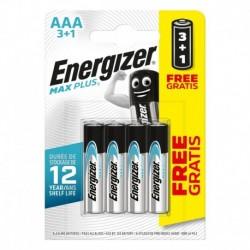 Mikrotužkové batérie MAX Plus - 4x AAA - 3 + 1 zadarmo - Energizer