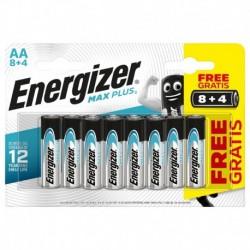 Tužkové batérie MAX Plus - 12x AA - 8 + 4 zadarmo - Energizer