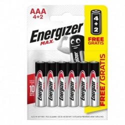 Mikrotužkové batérie MAX - 6x AAA - 4 + 2 zadarmo - Energizer