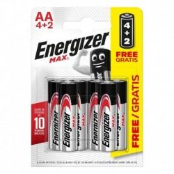 Tužkové batérie MAX - 6x AA - 4 + 2 zadarmo - Energizer
