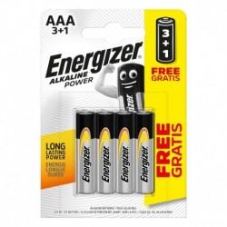 Mikrotužkové batérie Alkaline Power - 4x AAA - 3 + 1 zadarmo - Energizer
