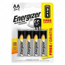 Tužkové batérie Alkaline Power - 4x AA - 3 + 1 zadarmo - Energizer