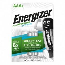 Nabíjacie mikrotužkové batérie EXTREME DUO - 2x AAA - 800 mAh - Energizer