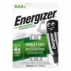 Nabíjacie mikrotužkové batérie POWER PLUS DUO - 2x AAA - 700 mAh - Energizer