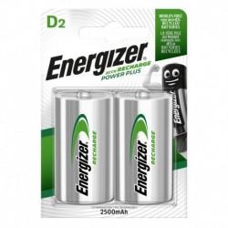 Nabíjací malý monočlánok POWER PLUS DUO - 2x D - 2500 mAh - Energizer