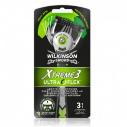 Jednorazový holiaci strojček Xtreme 3 Ultraflex - 3 ks - Wilkinson