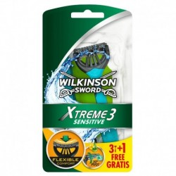 Jednorazový holiaci strojček Sword Xtreme 3 Sensitive - 3 + 1 ks - Wilkinson