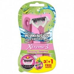 Jednorazový holiaci strojček Sword Xtreme 3 Beauty Sensitive - 3 + 1 ks - Wilkinson