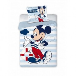 Bavlnené obliečky do postieľky - Mickey námorník - 100 x 135 cm - Faro