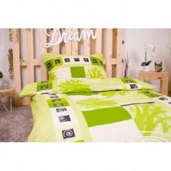 Saténové obliečky - Špirály - zelené - 140 x 200 cm