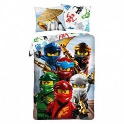Bavlnené obliečky - Lego Ninjago - mesto - 140 x 200 cm - Halantex