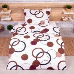 Obliečky DeLuxe - Čokoládové kruhy - 140 x 200 cm