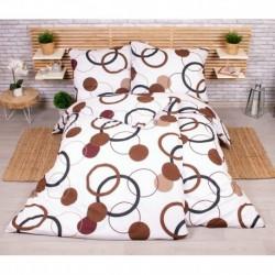 Sada obliečok na dve lôžka - Čokoládové kruhy - 140 x 200 cm