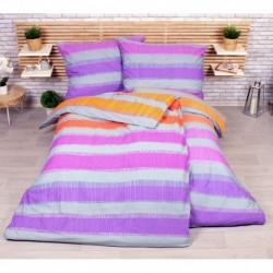 Sada obliečok na dve lôžka - Elle - fialová - 140 x 200 cm