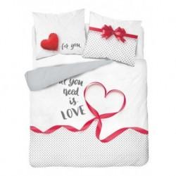 Bavlnené francúzske obliečky - Love - 220 x 200 cm - Detexpol