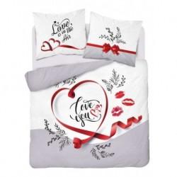 Bavlnené francúzske obliečky - Love you - 220 x 200 cm - Detexpol