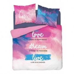 Bavlnené francúzske obliečky - Love dream - 220 x 200 cm - Detexpol