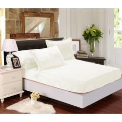 Mikroflanelové prestieradlo Elegance - biele - BedStyle