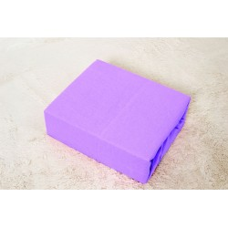 Prémiové jersey prestieradlo do postieľky - fialové - BedStyle