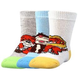 Ponožky Filípek 01 - ABS mix A - chlapec - 3 páry - Boma