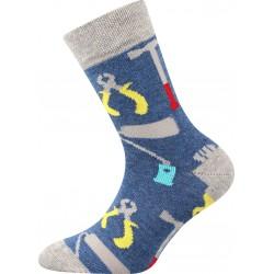 Ponožky Filip 02 - ABS mix A - chlapec - 3 páry - Boma