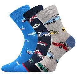Ponožky 057-21-43 10/X - mix B - chlapec - 3 páry - Boma