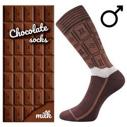 Ponožky - mliečna čokoláda - pánské - 1 pár - Lonka