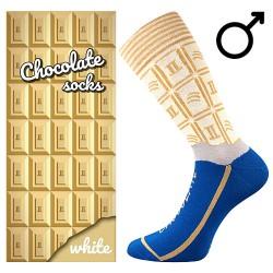 Ponožky - biela čokoláda - pánské - 1 pár - Lonka