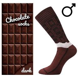 Ponožky - horká čokoláda - pánské - 1 pár - Lonka