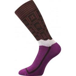 Ponožky - horká čokoláda - dámské - 1 pár - Lonka