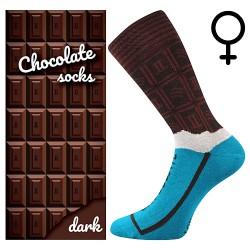 Ponožky - mliečna čokoláda - dámské - 1 pár - Lonka