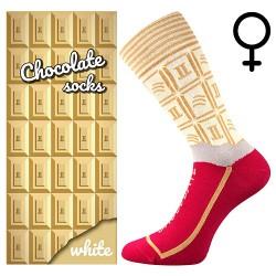 Ponožky - biela čokoláda - dámské - 1 pár - Lonka