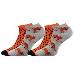 Ponožky Duo 01 - leopard - 2 páry - Boma