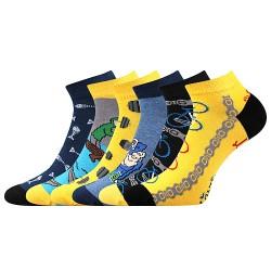 Ponožky Dabl - mix J - 3 páry - Lonka