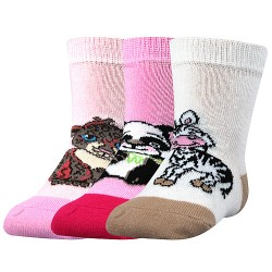 Ponožky Filípek 01 - ABS mix B - dievča - 3 páry - Boma
