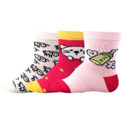 Ponožky Bejbik - mix B - dievča - 3 páry - Boma