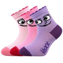 Ponožky Kukik - mix B - dievča - 3 páry - VoXX
