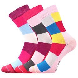 Bambusové ponožky Bambucik - mix B - dievča - 3 páry - Lonka