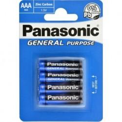 Batéria General Purpose R03BE/4BP - 1,5 V - 4x AAA batéria - balenie blister - Panasonic