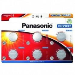 Lítiová gombíková batéria - 6x CR2032 - Panasonic
