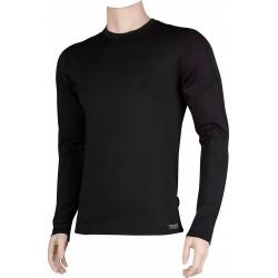 Pánské tričko SOLID 01 - dlhý rukáv - čierne - VoXX